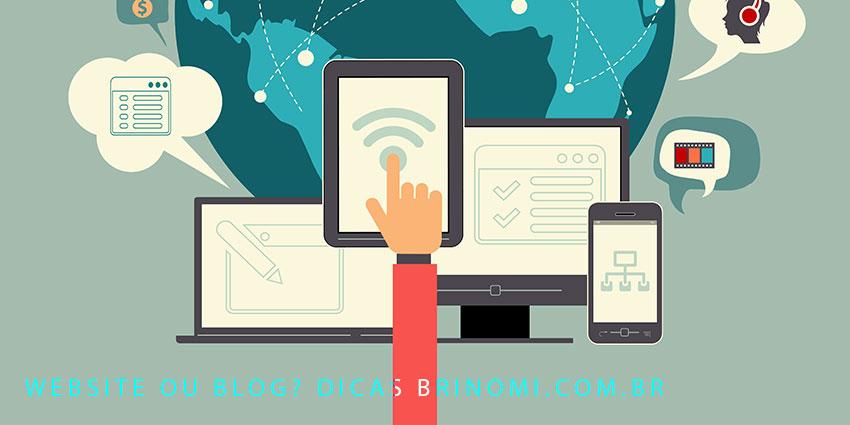 webdesign de projeto de site ou blog ou os dois juntos