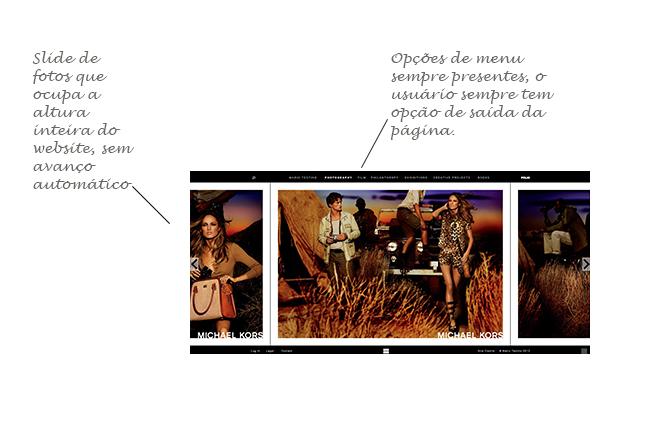 regrinhas de web design: sempre deixe links para o usuário sair da página + slide grande