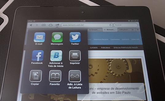 Website customizado para ipad