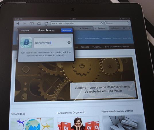web design em sao paulo exemplo adicionar site a tela inicial