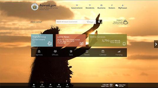 web design de site de governo que explora seus recursos naturais e culturais