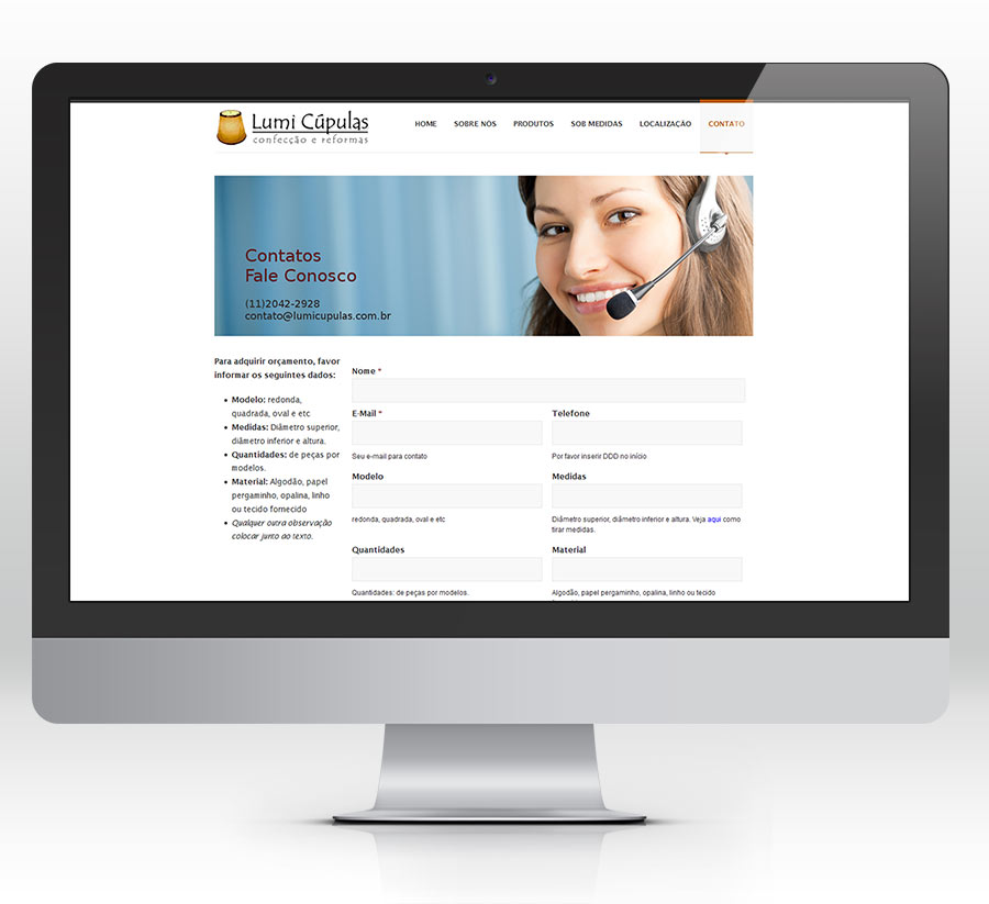 desenvolvimento de website para empresa de decoração em são paulo