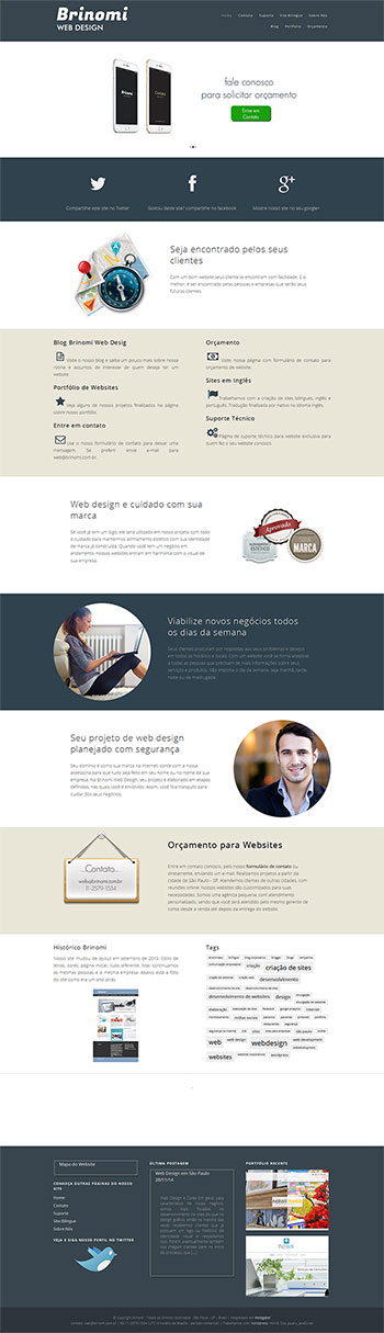 historico do web design corporativo de nossa agência