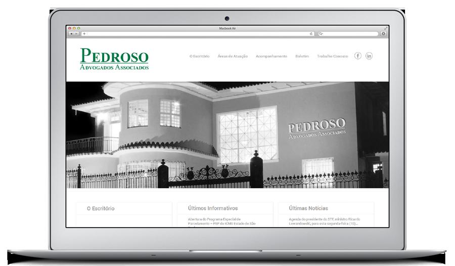 criação de website para pedroso advogados