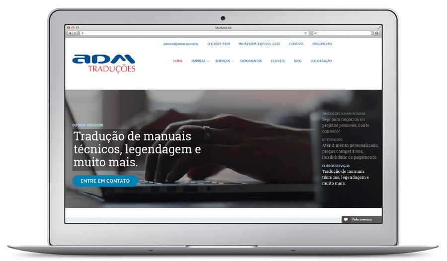Criação de Site Corporativo administrável e responsivo