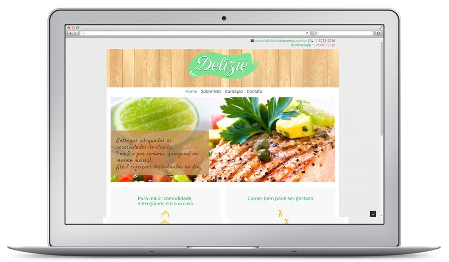 Site com slide desenvolvido pela Brinomi Web Design