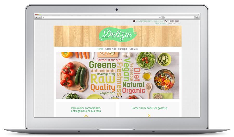 Website para Ramo de alimentação / delivery