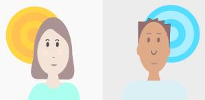 projeto de web design com foto no público masculino ou feminino